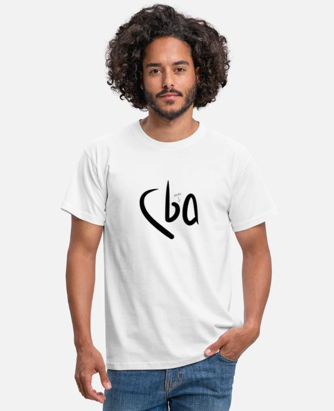 Lazy T-Shirts - Can't Be Asked (CBA) - Men's T-Shirt white