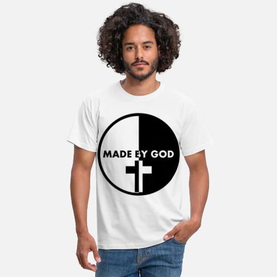 Gospel T-Shirts - made_by_god2 - Men's T-Shirt white