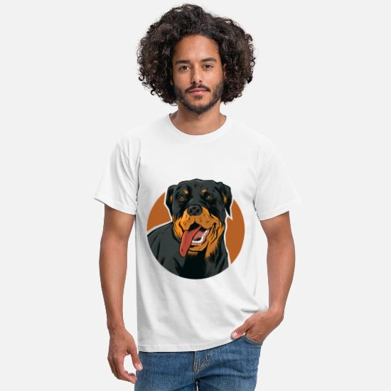 Cats And Dogs Collection T-Shirts - Beautiful Rottweiler motif for dog owners - Men's T-Shirt white