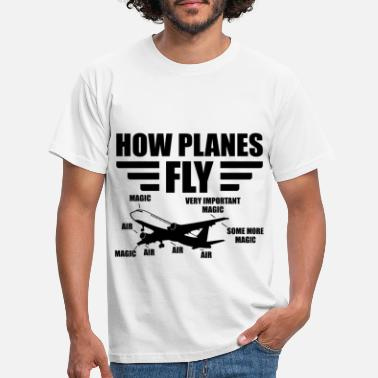 Model Airplane How planes fly pilot aviation gift airplane - Men's T-Shirt
