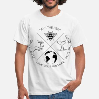 Save The Bees Save the Bees, Plant More Trees, Clean the Seas Ta - Männer T-Shirt