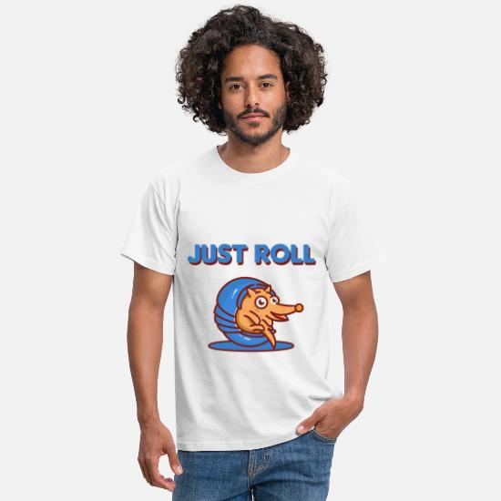 South America T-Shirts - Just Roll Armadillo - Men's T-Shirt white