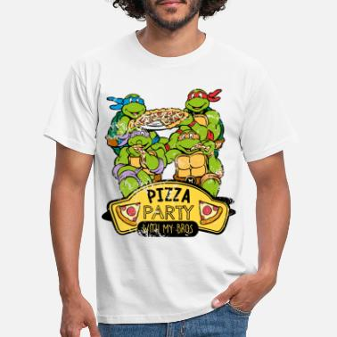 Graphic TMNT Turtles Pizza Party With My Bros - Men's T-Shirt