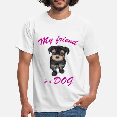Dog Friend Dog dog friend - Men's T-Shirt