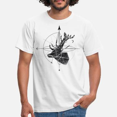 Black And White Collection Deer geometry - Maglietta uomo