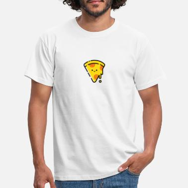 Pizza love piece. Funny gift. - Men's T-Shirt