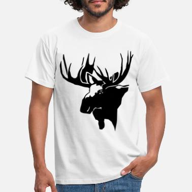Moss Moose - moss - Men's T-Shirt