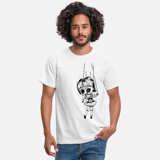 Cruel T-Shirts - Voodoo Doll Marionette - Men's T-Shirt white