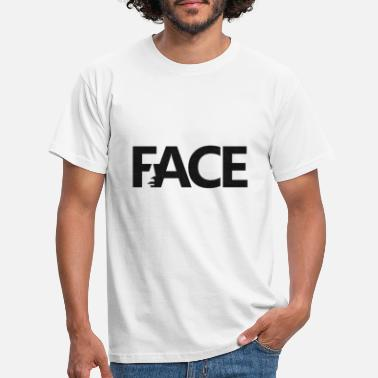 Typography Face Face - Men's T-Shirt