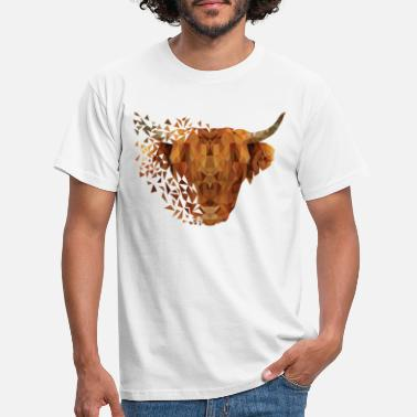 Designs Of The Month Geometric Highland Cow #1 - Men's T-Shirt