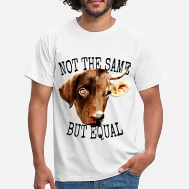 Factory Vegan Not The Same But Equal Vegetarian Animal Lover - Men's T-Shirt