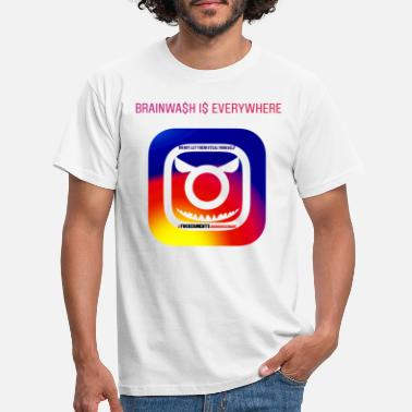 Instagram Anti Instagram - T-skjorte for menn