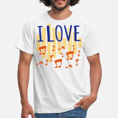 Jaime La Musique J'aime la musique J'aime la musique tricolore Godigart - T-shirt Homme