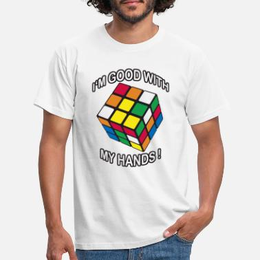 Speed Rubik's I'm good with my Hands - Männer T-Shirt