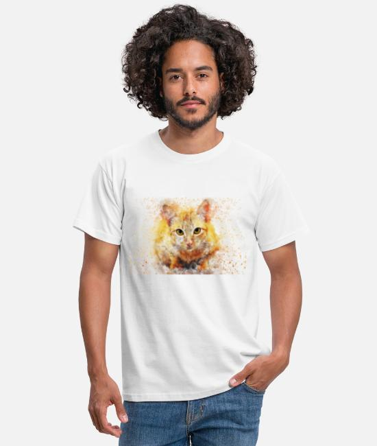 Pure-bred T-Shirts - Red house cat - Men's T-Shirt white