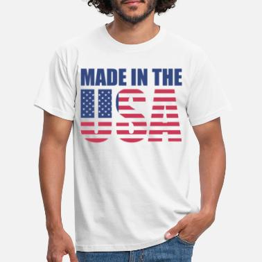 Made In Usa USA America Flag Stars and Stripes Made in USA - Mannen T-shirt
