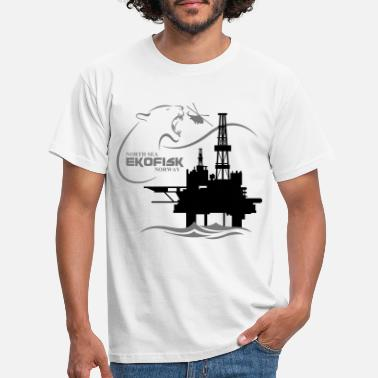 Oil Ekofisk Oil Rig Platform North Sea Norway - Men's T-Shirt