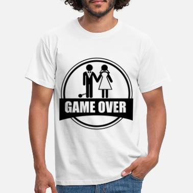 Soltero Game over,  despedida, de, soltero - Camiseta hombre