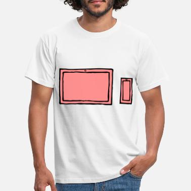Laptop and mobile - sw - Men's T-Shirt