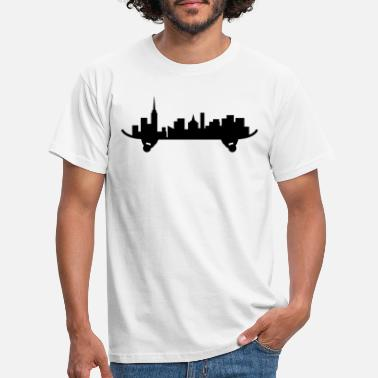 Ellinor Skateboard City Silhouette Art - T-shirt herr