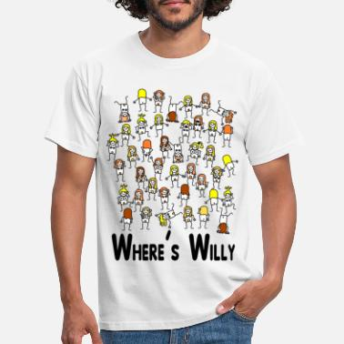Funny Where's willy - Men's T-Shirt