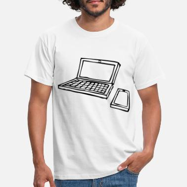 Laptop and Mobile 2 - black - Men's T-Shirt