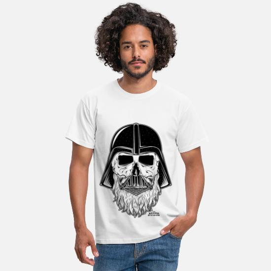 Bart T-Shirts - darth vader beard - Männer T-Shirt Weiß