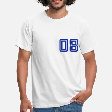 College College Numbers, Nummern, Sports Numbers, 08 - Männer T-Shirt