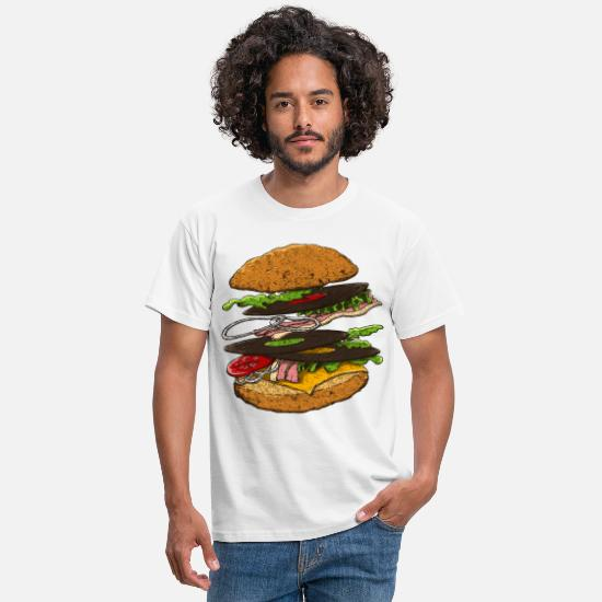 Hamburger T-shirts - Hamburger - T-shirt Homme blanc