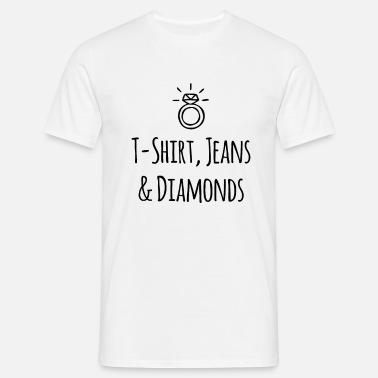 Diamanter Luksus Fan Mode T Shirt Jeans Diamanter Herre premium T shirt hvid