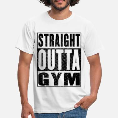 Body Building Straight Outta Gym Vintage - Männer T-Shirt
