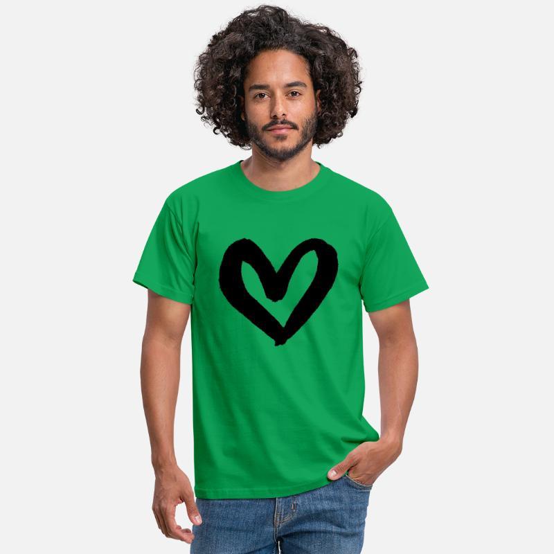 ELSKER HJERTET KREATIV TEGNING DESIGN ROMANSGAVE T skjorte