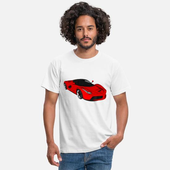 Car T-Shirts - Sports car sports car racing car convertible - Men's T-Shirt white