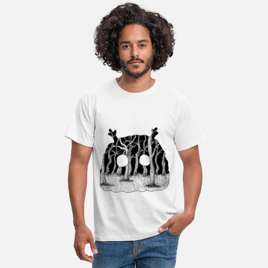 Halloween T-Shirts - Creature - Men's T-Shirt white