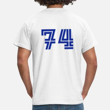 Zahl College Numbers, Nummern, Sports Numbers, 74 - Männer T-Shirt