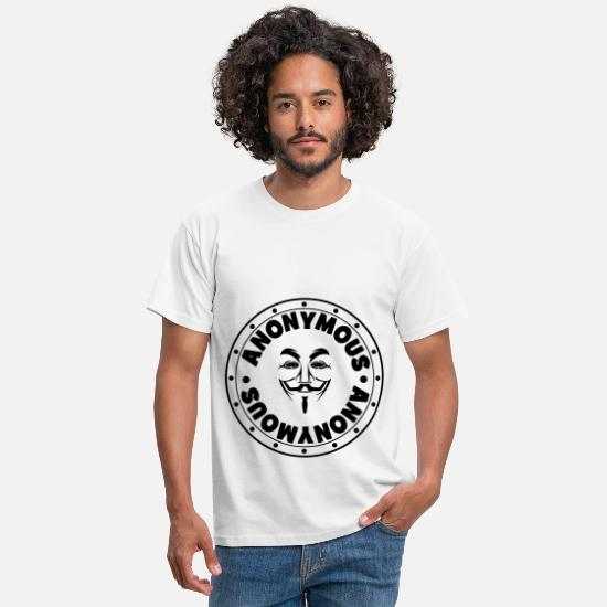 Hacker T-Shirts - Anonymous - Men's T-Shirt white