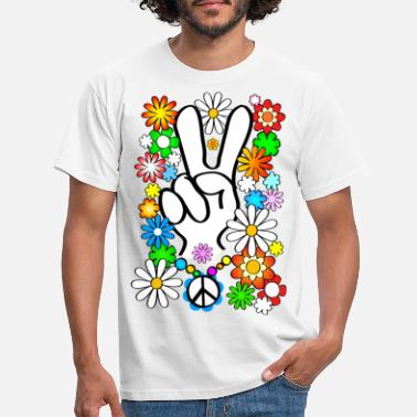 Flower Flower Power & Peace 1 - Männer T-Shirt