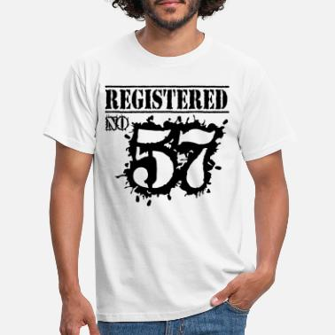 59th Birthday Registered No 57 - 59th Birthday - Men's T-Shirt