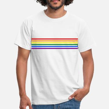 Stripe Rainbow Stripes - Männer T-Shirt