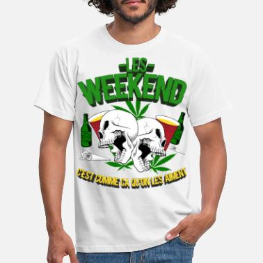 Cannabis weekend party - T-shirt Homme