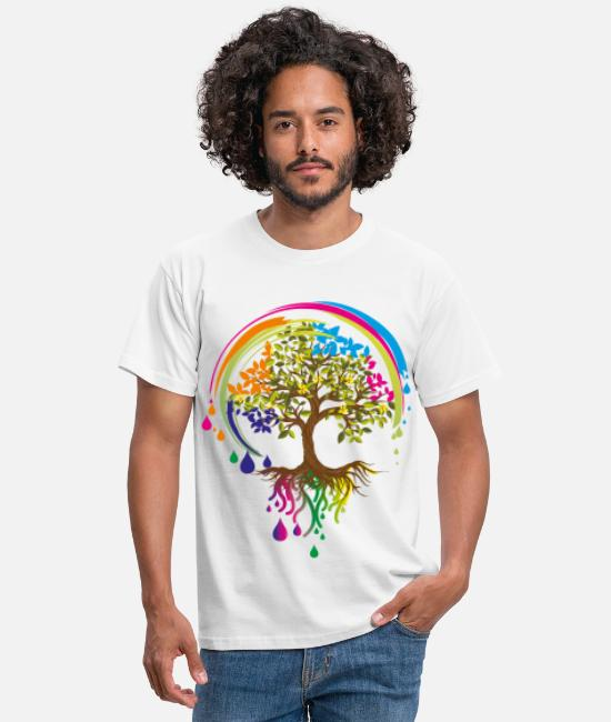 Coloring T-Shirts - colourful tree - Men's T-Shirt white