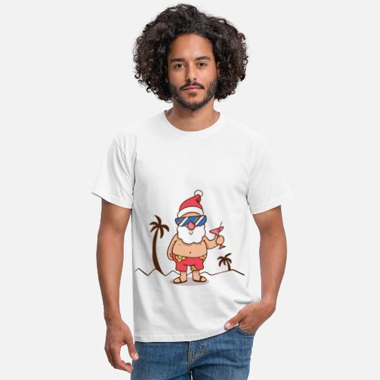 Santa T-Shirts - Santa Claus on vacation - Men's T-Shirt white