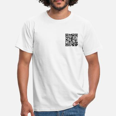 Rick Ross Rick Astley - Never Gonna Give You Up QR CODE - Männer T-Shirt
