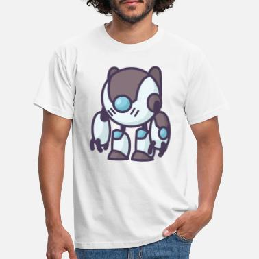 Robot A Modern Robot in White Brown and Blue Colour - Men's T-Shirt