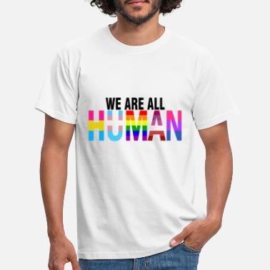 Lesbian We are all Human lgbt pride month gay - Men's T-Shirt