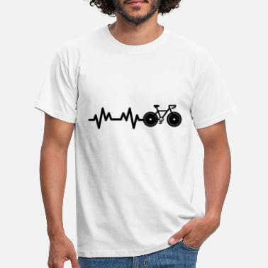 Cyclist Cyclists heartbeat - Men's T-Shirt