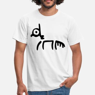 Peinture Rupestre Tribal Horse by Cheerful Madness!! - Men's T-Shirt