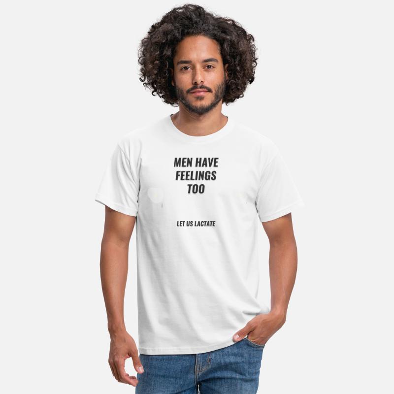 Menn har også følelser La oss amme T skjorte for menn