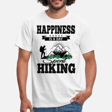 Energie Happiness Is A Day Spent Hiking bw - Männer T-Shirt