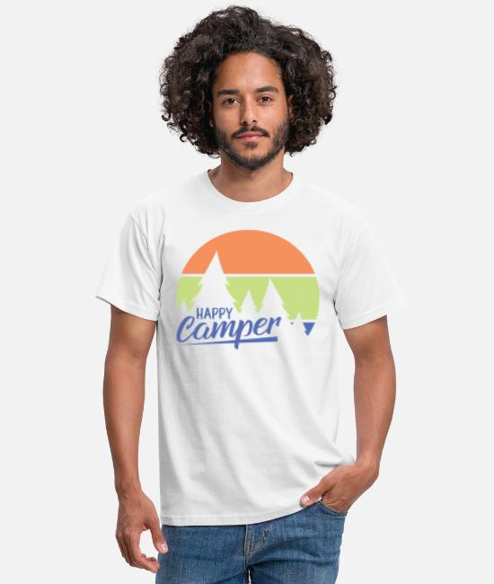 Walking T-Shirts - Happy Camper. Let's go Camping. - Men's T-Shirt white
